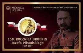 Numizmat na 150 rocznicę urodzin Józefa Piłsudskiego